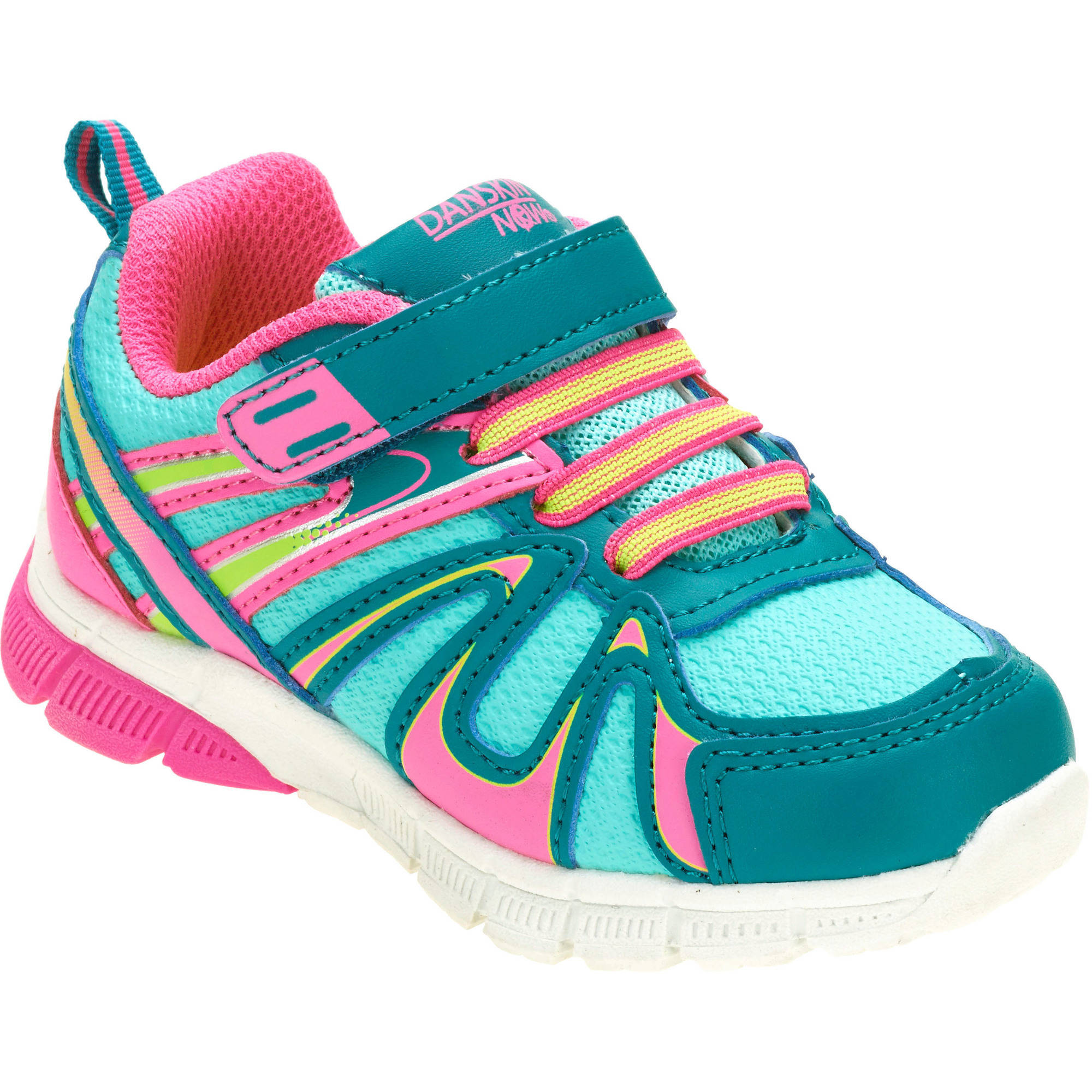 Danskin Now Toddler Girl's Bungee Lace Running Shoe