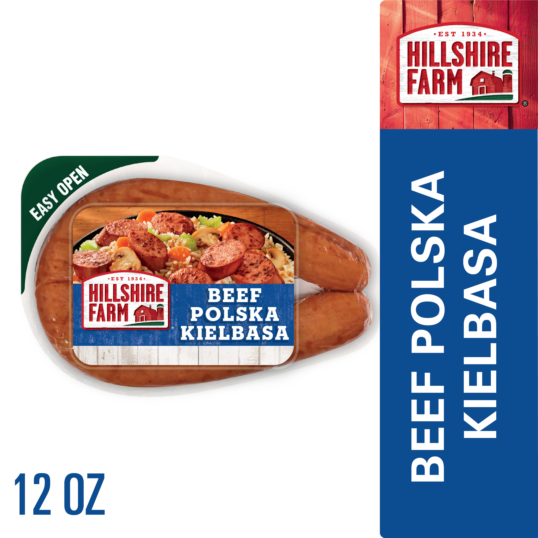Hillshire Farm Beef Polska Kielbasa Smoked Sausage 12 Oz Walmart Com Walmart Com