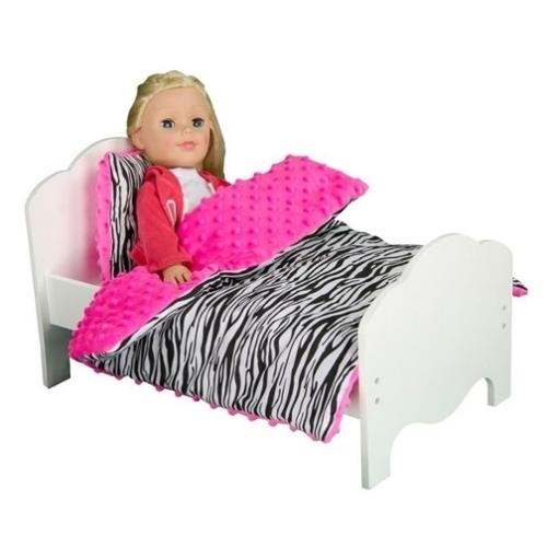 "Olivia's Little World Little Princess 18"" Doll Furniture Bedding Zebra Prints"