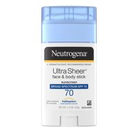 Neutrogena Ultra Sheer Non-Greasy Sunscreen Stick, SPF 70, 1.5 oz