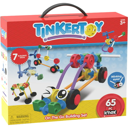 TINKERTOY On the Go Building Set - 65 Pieces - Creative Preschool Toy