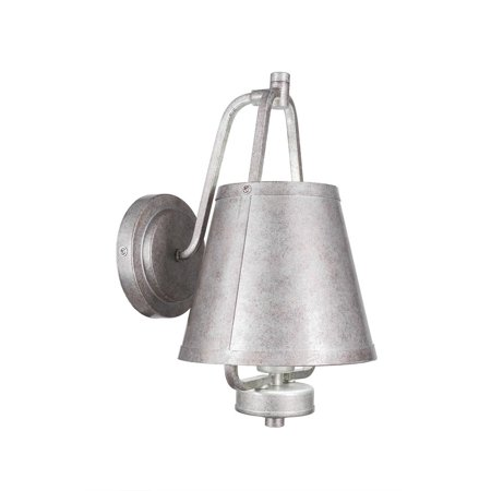 Toltec Lighting Sonora 1 Light Wall Sconce Shown In Aged Silver Finish Glass Shade - (Lighting Cone Glass)