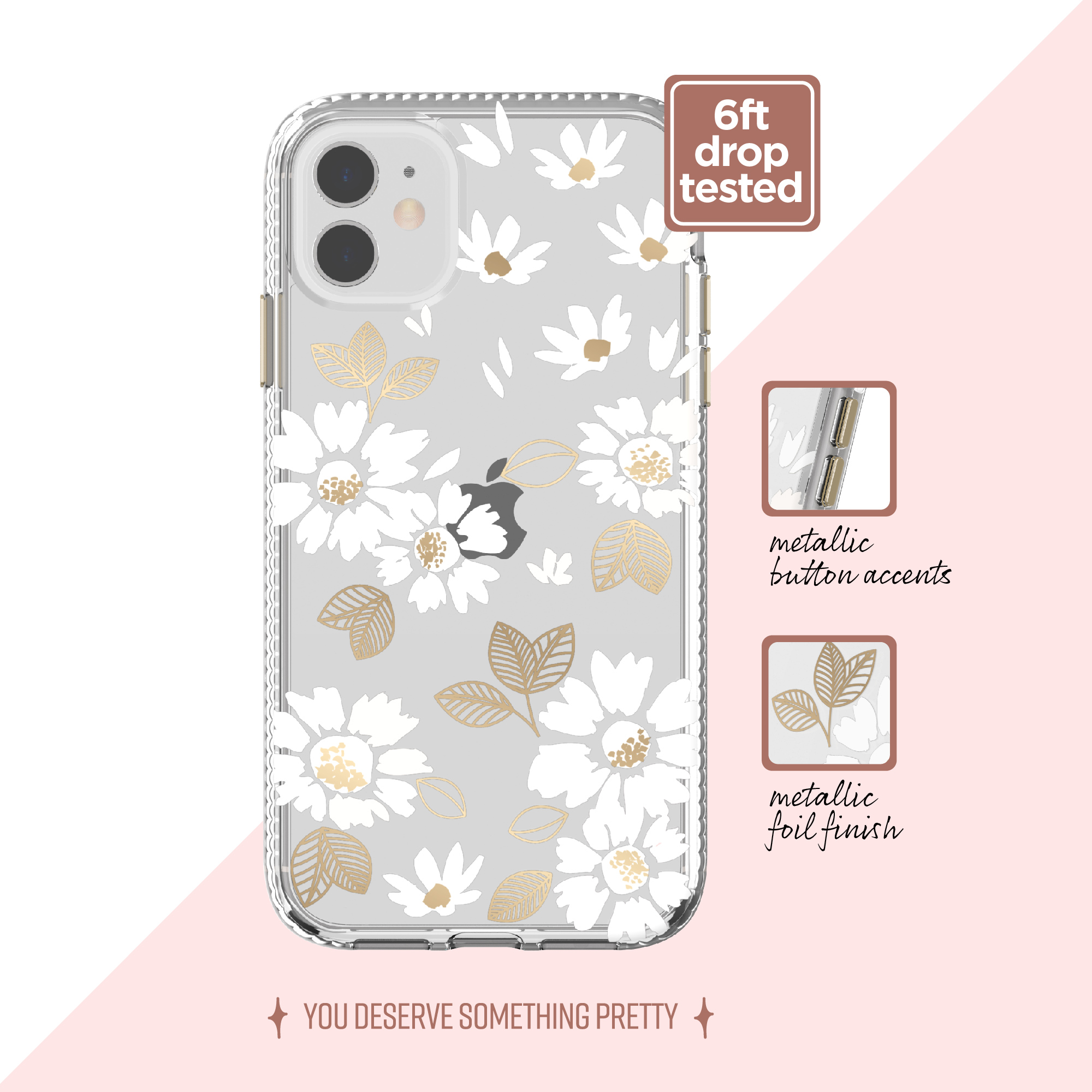 Clear White Floral Phone Case For Iphone 11 Iphone Xr Walmart Com Walmart Com