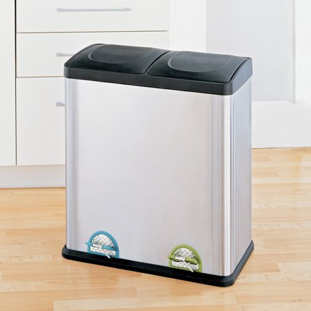 neu home 16 gallon 2 section recycle bin. Black Bedroom Furniture Sets. Home Design Ideas
