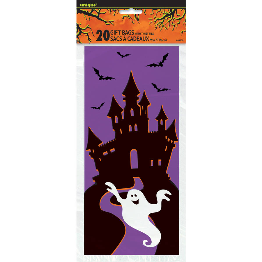 Haunted House Halloween Cellophane Bags, 20-Count