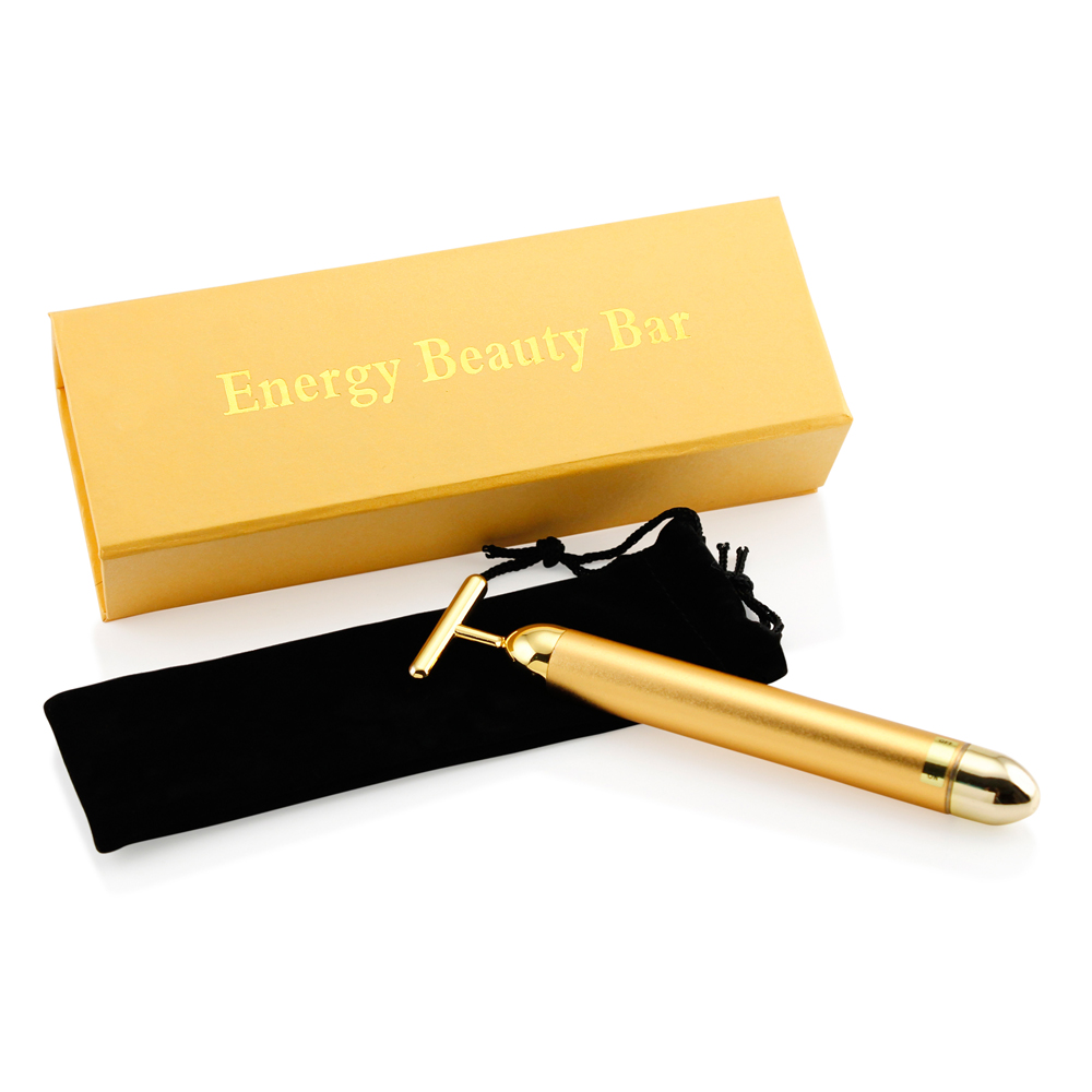 24 karat gold Beauty Bar Golden Skin Care Lift Anti-Aging Facial Massage...