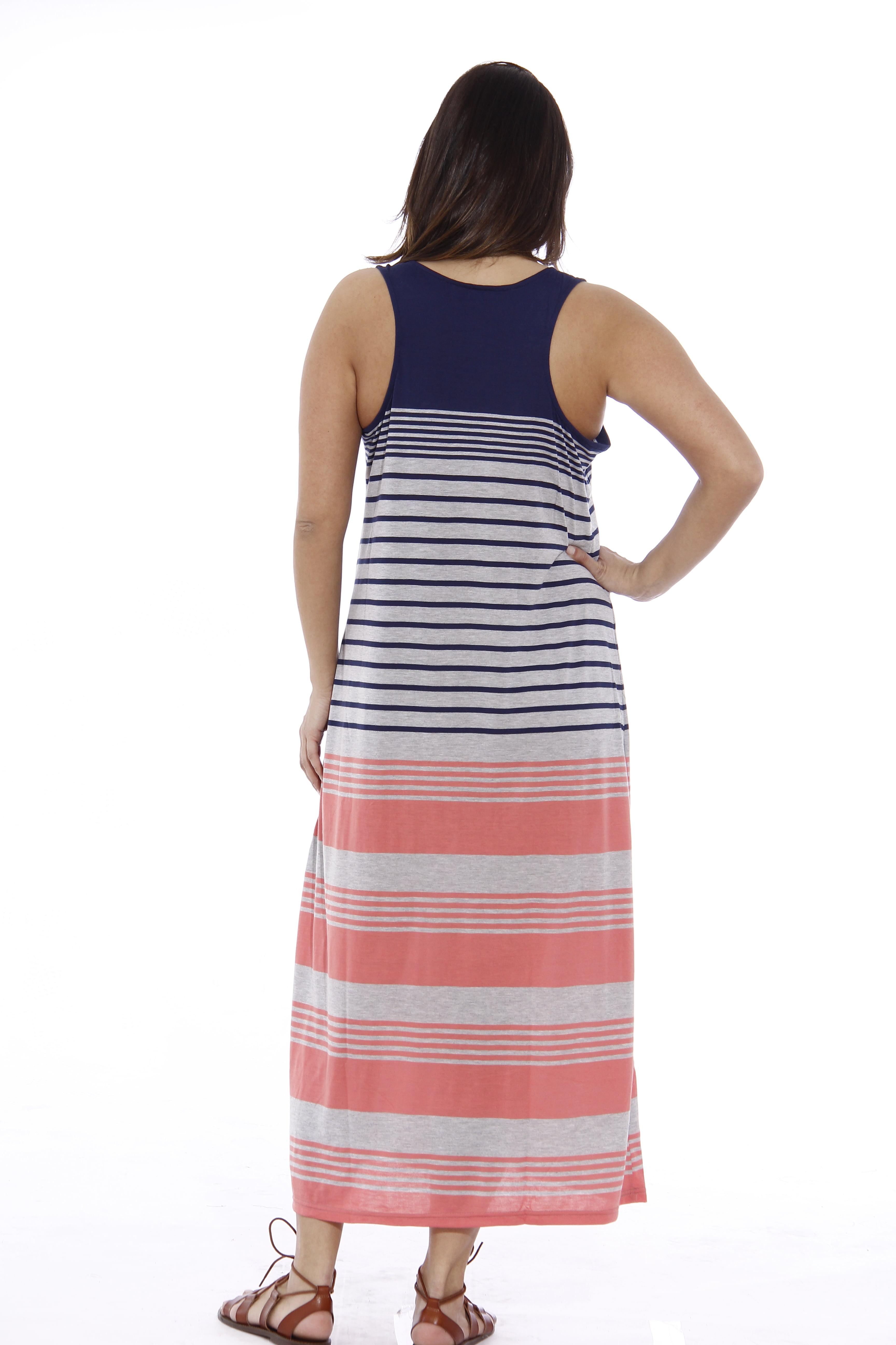 da1ef3518b23 Just Love - Plus Size Summer Dresses / Maxi Dress (Coral / Heather / Navy,  3X, Sundress) - Walmart.com