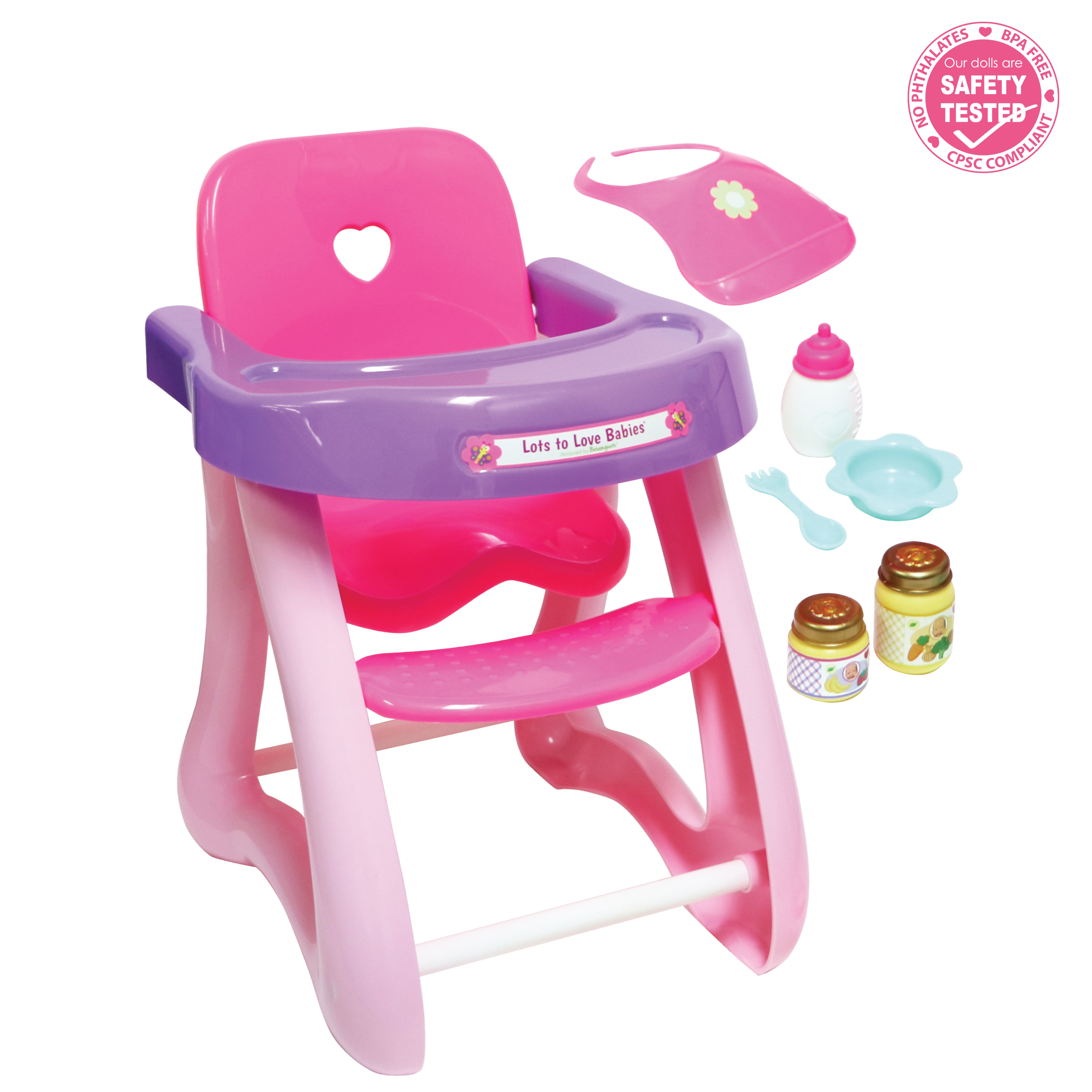 Jc Toys For Keeps Highchair Gift Set Fits Dolls Up To 16 Dolls