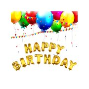 """16""""/ 40""""HAPPY BIRTHDAY Letter Foil Inflated Balloon Float Helium Aluminum Balloons for Birthday Party Decoration"""