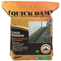Quick Dam Expanding Flood Barrier, 6 In. X 5 Ft., 2 Per Bag