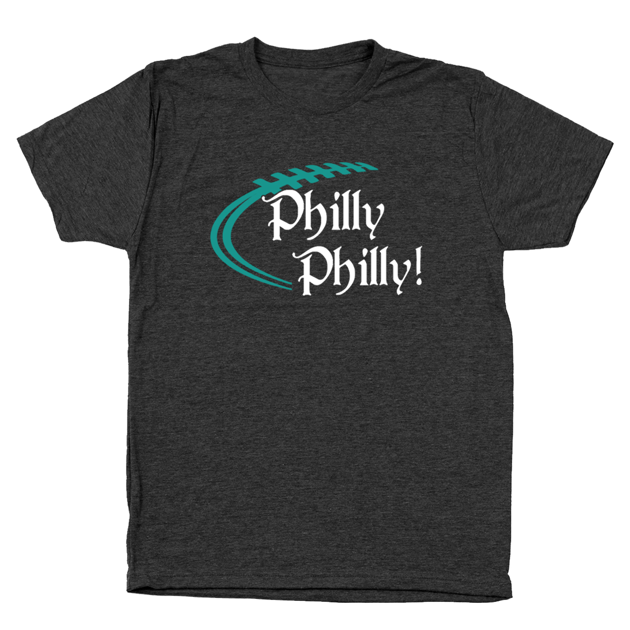 Philly Philly Philadelphia Eagles Small Heather Black Men's Tri-Blend T-Shirt