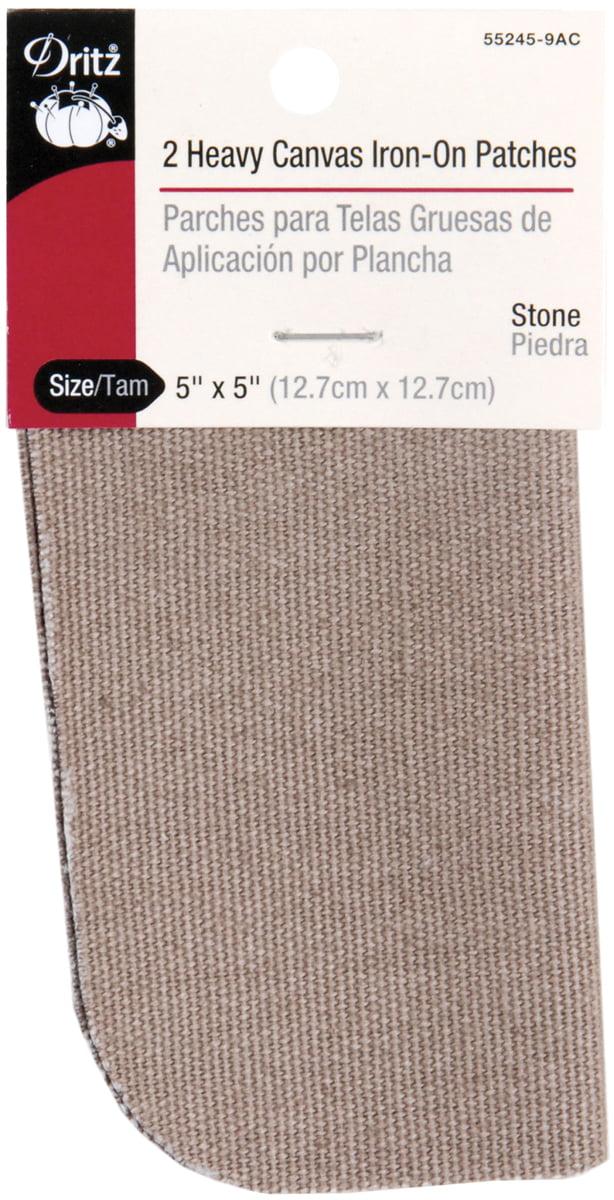 "Dritz Iron-On Heavy Canvas Patches 5/""X5/"" 2//Pkg-Golden Light Brown"