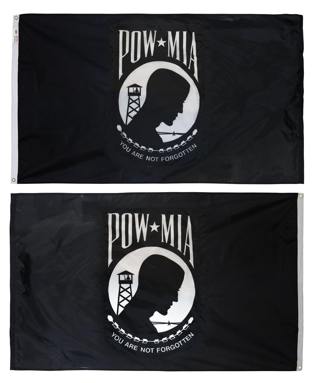 "POWMIA POW MIA Prisoner War Lightweight Flag Printed Knitted Style Scarf 8/""x60/"""