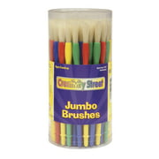 Creativity Street Jumbo Paint Brushes, Assorted Colors, Set of 58
