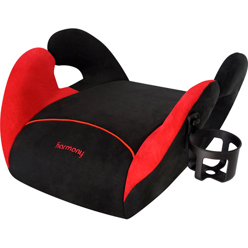Harmony Juvenile - Cruz Backless Booster Car Seat, Black/Red
