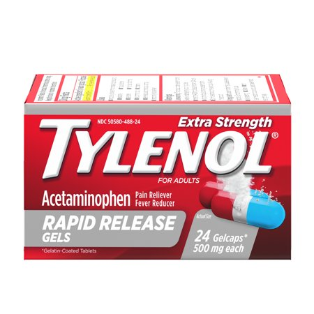 Rapid Patty - Tylenol Extra Strength Rapid Release Gels with Acetaminophen, 24 ct