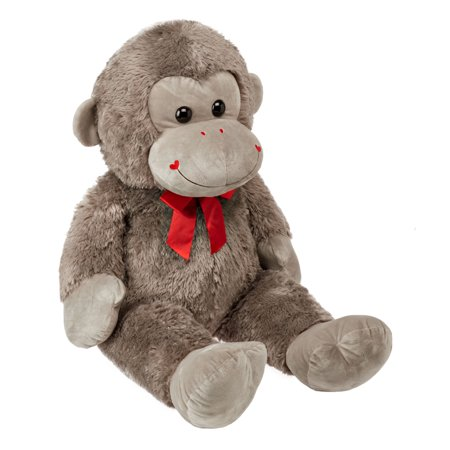 Plush Valentine's Day Extra Large Monkey