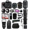 "Nikon D610 DSLR SLR Digital Camera + 18-55mm VR II + 6.5mm Fisheye + 55-300mm VR + 420-1600mm Lens + Filters + 128GB Memory + Action Stabilizer + i-TTL Autofocus Flash + Backpack + Case + 70  Tripod The Nikon D610 DSLR Camera features a full-frame, FX-format 24.3 megapixel CMOS sensor and EXPEED 3 image processor to produce high-resolution still imagery and full HD 1080p video with notable image detail and low-light sensitivity to an expandable ISO 25600. The sensor and processor work together to enable high image quality with a wide dynamic range and high signal-to-noise ratio that produces both smooth color and tonal gradations with low noise levels for enhanced overall clarity.<br><br><b>What's in the box:</b><br><br>Nikon D610 DSLR Camera (Body Only)<br>EN-EL15 Lithium-Ion Battery (1900mAh)<br>MH-25 Quick Charger for EN-EL15 Battery<br>DK-5 Eyepiece Shield (Replacement)<br>DK-21 Rubber Eyecup<br>UC-E15 USB Cable<br>AN-DC10 Replacement Neck Strap for D610 DSLR<br>BM-14 LCD Cover for D600 and D610<br>BF-1B Body Cap<br>BS-1 Hot-Shoe Cover<br>ViewNX 2 Software CD-ROM<br>Limited 1-Year Warranty<br><br><b>47th Street Photo Accessories:</b><br><br>Opteka 6.5mm f/3.5 HD Aspherical Fisheye Lens with Hood<br>Nikon AF-S DX NIKKOR 18-55mm f/3.5-5.6G VR II Lens<br>Nikon AF-S DX NIKKOR 55-300mm f/4.5-5.6G ED VR Lens<br>Opteka 420-800mm HD Telephoto Zoom Lens<br>Opteka High Definition 2X Telephoto Converter<br>Opteka 2.2x High Definition II Telephoto Lens<br>Opteka 0.43x High Definition II Wide Angle Lens<br>Professional 3 Piece Filter Kit (UV-CPL-FLD)<br>Deluxe Digital Camera Padded Carrying Case (Large)<br>64GB High Speed Class 10 Memory Card (2)<br>Memory Card Wallet<br>High Speed SD/SDHC/Micro SD Reader/Writer<br>Opteka Wireless Shutter Remote Control<br>Opteka X-GRIP Professional Action Stabilizing Handle<br>Opteka IF-980 Professional I-TTL Flash<br>Professional Sling SLR Backpack<br>Opteka 67"" MP100 Aluminum Monopod<br>Opteka OPT7000 70-inch Professional Tripod<br>Small Mini Tabletop Tripod<br>Lens Cleaning Kit<br>$50 Promo Code for Digital Photo Prints<br>47th Street Cleaning Cloth<br>"