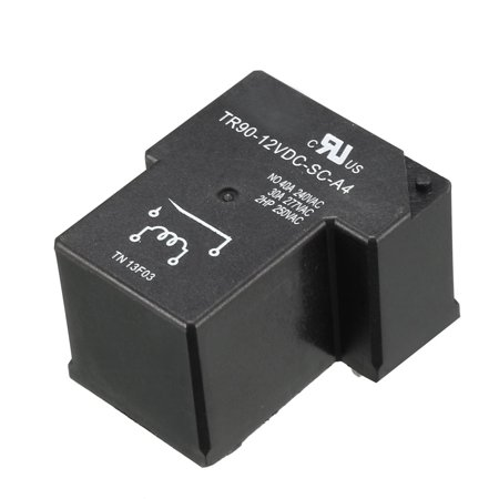 Unique Bargains TR90-12VDC-SC-A4 DC 12V Coil 1NO 4-Pin PCB Mount Electromagnetic Power Relays
