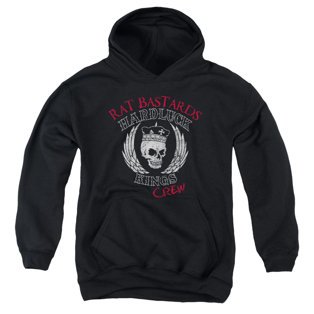 Hardluck Kings Rat Bastards Logo Big Boys Pullover Hoodie