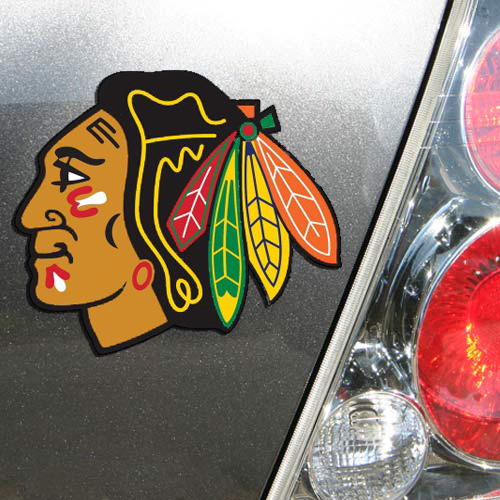 "Chicago Blackhawks WinCraft 5"" Primary Die-Cut Car Magnet - No Size"
