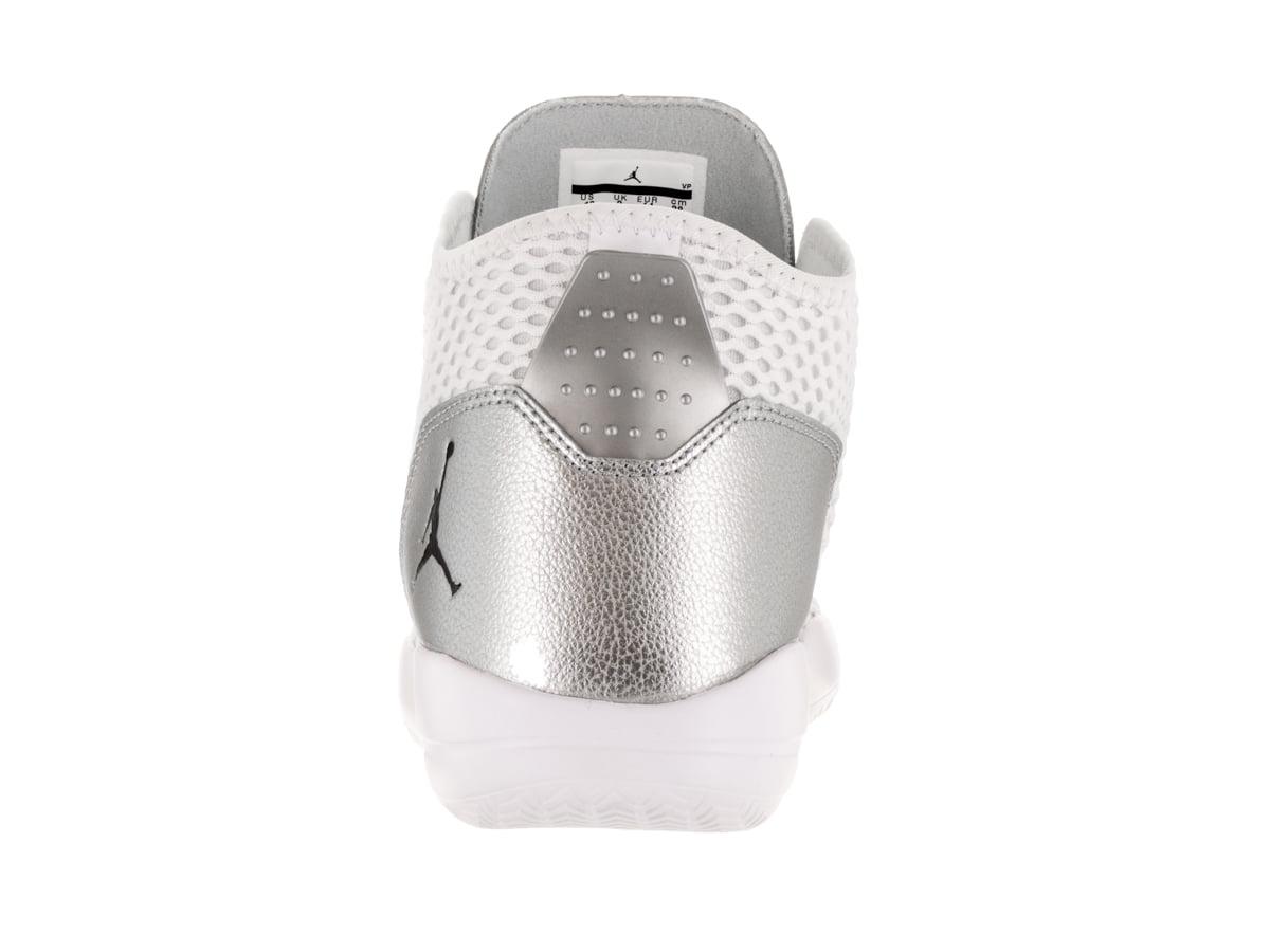 Nike Men's Jordan Reveal White / Black Metallic Silver Infrared 23 Mid-Top Mesh Basketball Shoe - 11M