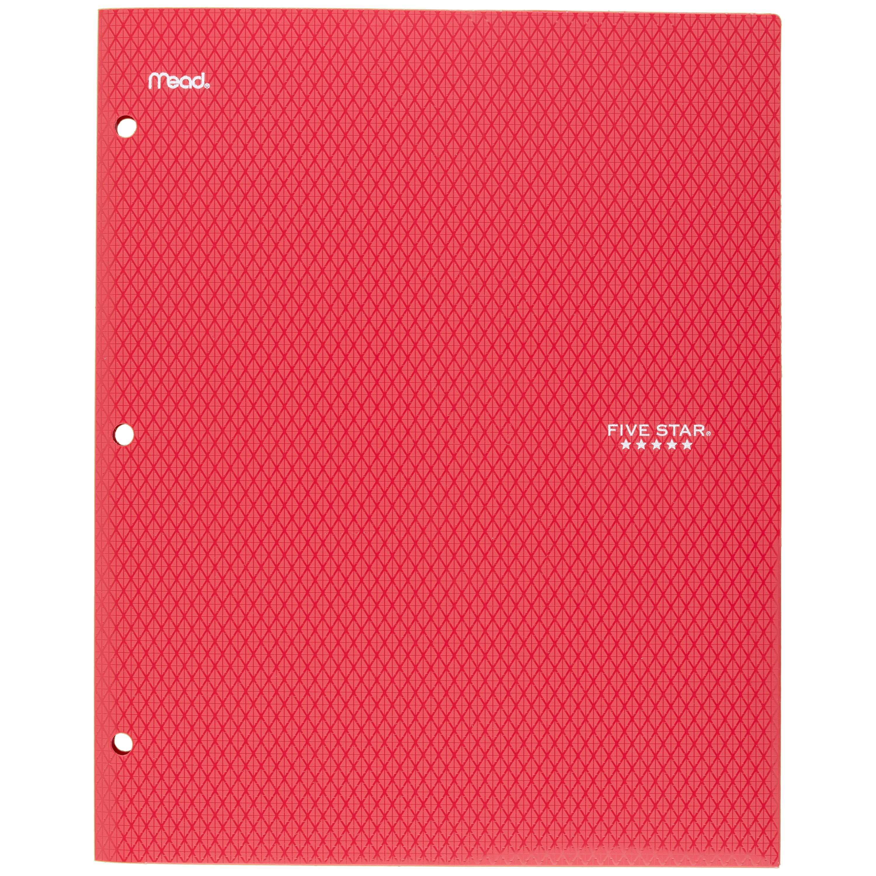 Five Star Stay-Put Pocket and Prong Folder, Red (34605)
