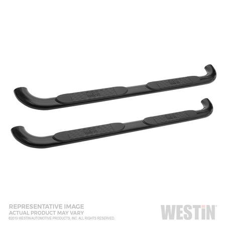 Westin 21-4125 Platinum Series 4 in. Oval Step Bar Cab Length; Black;