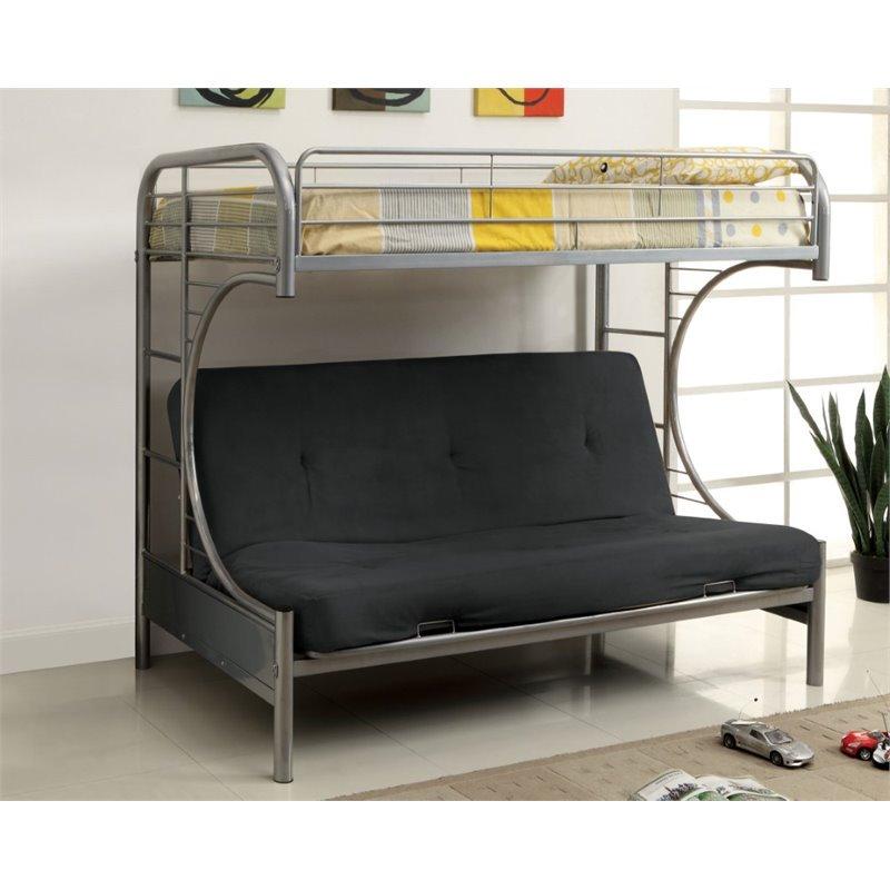 Furniture of America Capelli Metal Loft Bed in White