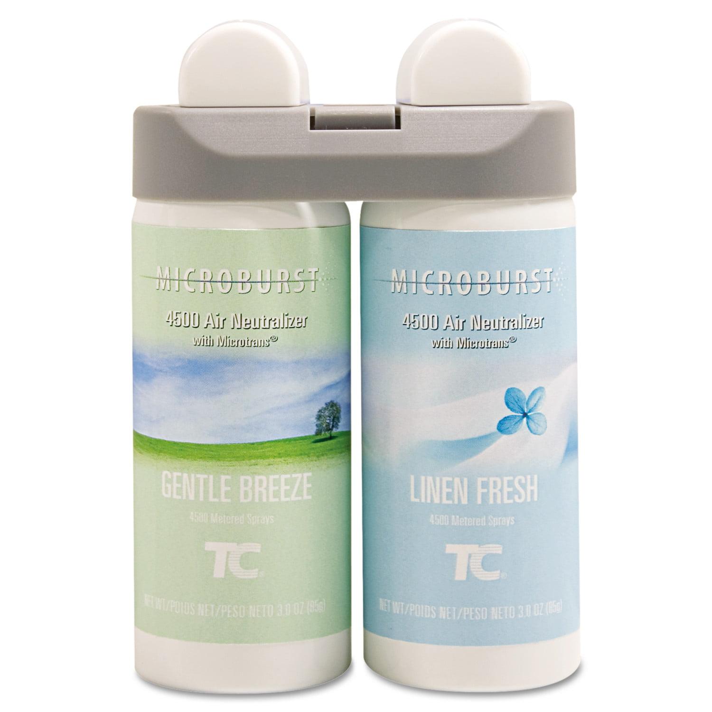 Rubbermaid Microburst 4500 Air Neutralizer Duet Gentle Breeze/Linen Fresh Fragrance Refills, 3 oz, 2 pack