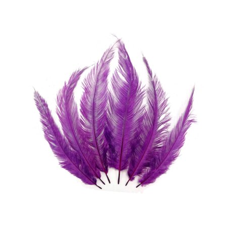 1/2 Lb - Purple Mini Spads Ostrich Wholesale Chick Body Feathers (Bulk) for $<!---->