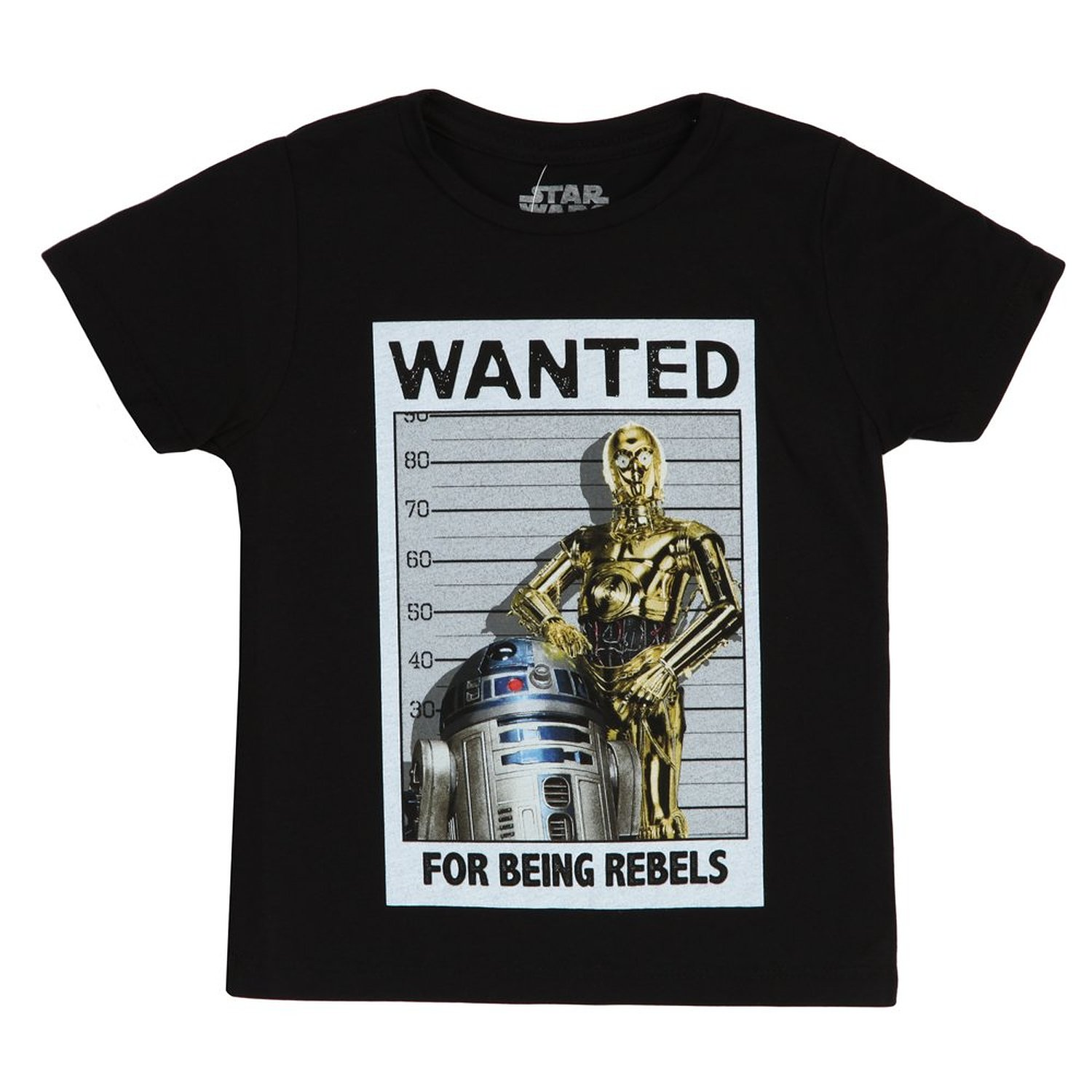 Star Wars Wanted For Being Rebels Juvy Black T-Shirt   6