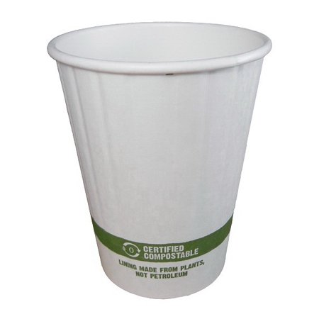 World Centric CU-PA-12D 12 Oz Double Wall Hot Cup - Paper - Compostable