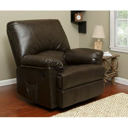 (Relaxzen 23-7000MWM Rocker Recliner with Heat and Massage, Brown Marbled Leather)
