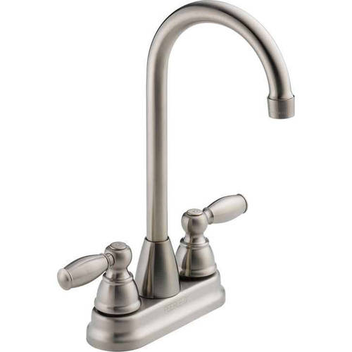 Peerless Bar Faucet with Double Ergonomic Blade Handle, Available in Various Colors