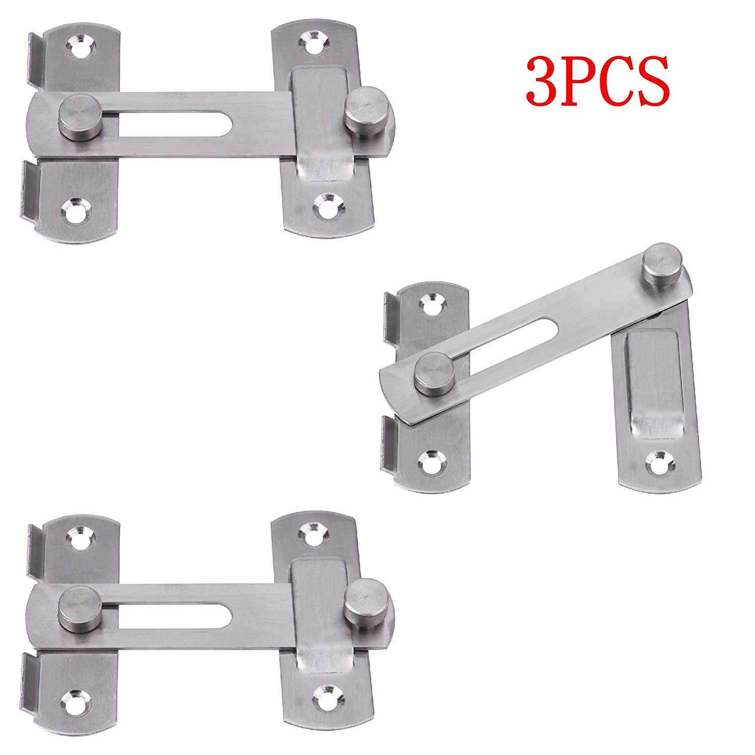 Creatyi 3 Pcs Stainless Steel Safety Door LatchesWindowFurniturePet Gate Lock  sc 1 st  Walmart & Creatyi 3 Pcs Stainless Steel Safety Door LatchesWindowFurniture ...