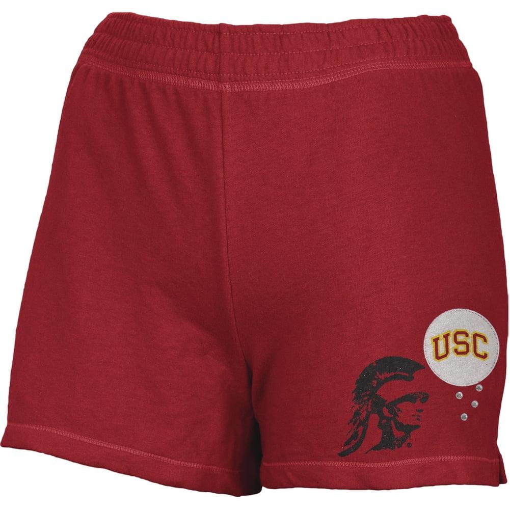 USC Trojans - Glitter Logo w/Rhinestones Girls Youth Athletic Shorts
