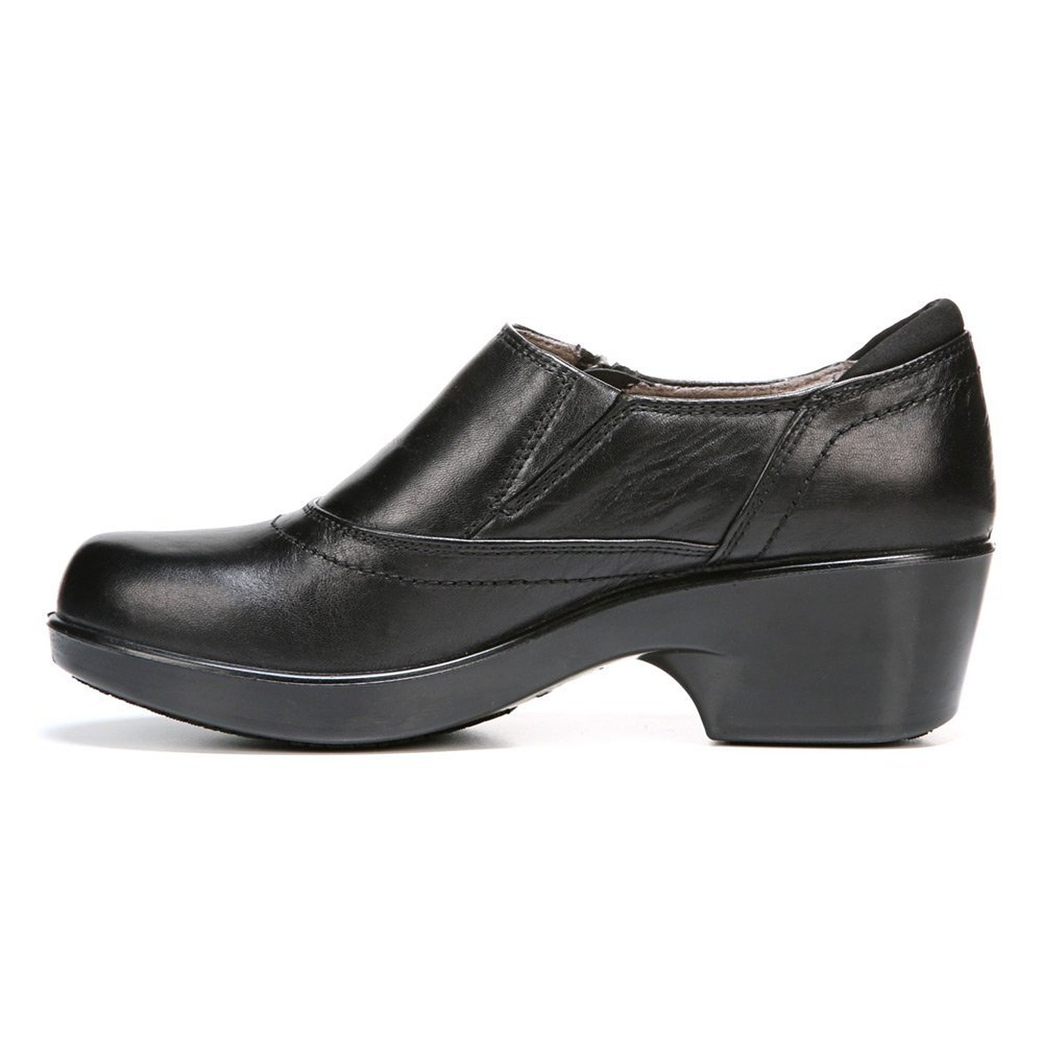 Naturalizer Women's Florence Black Leather Clog/Mulr