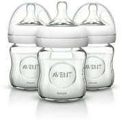 Philips Avent Natural Glass Baby Bottle - 4oz, 3ct