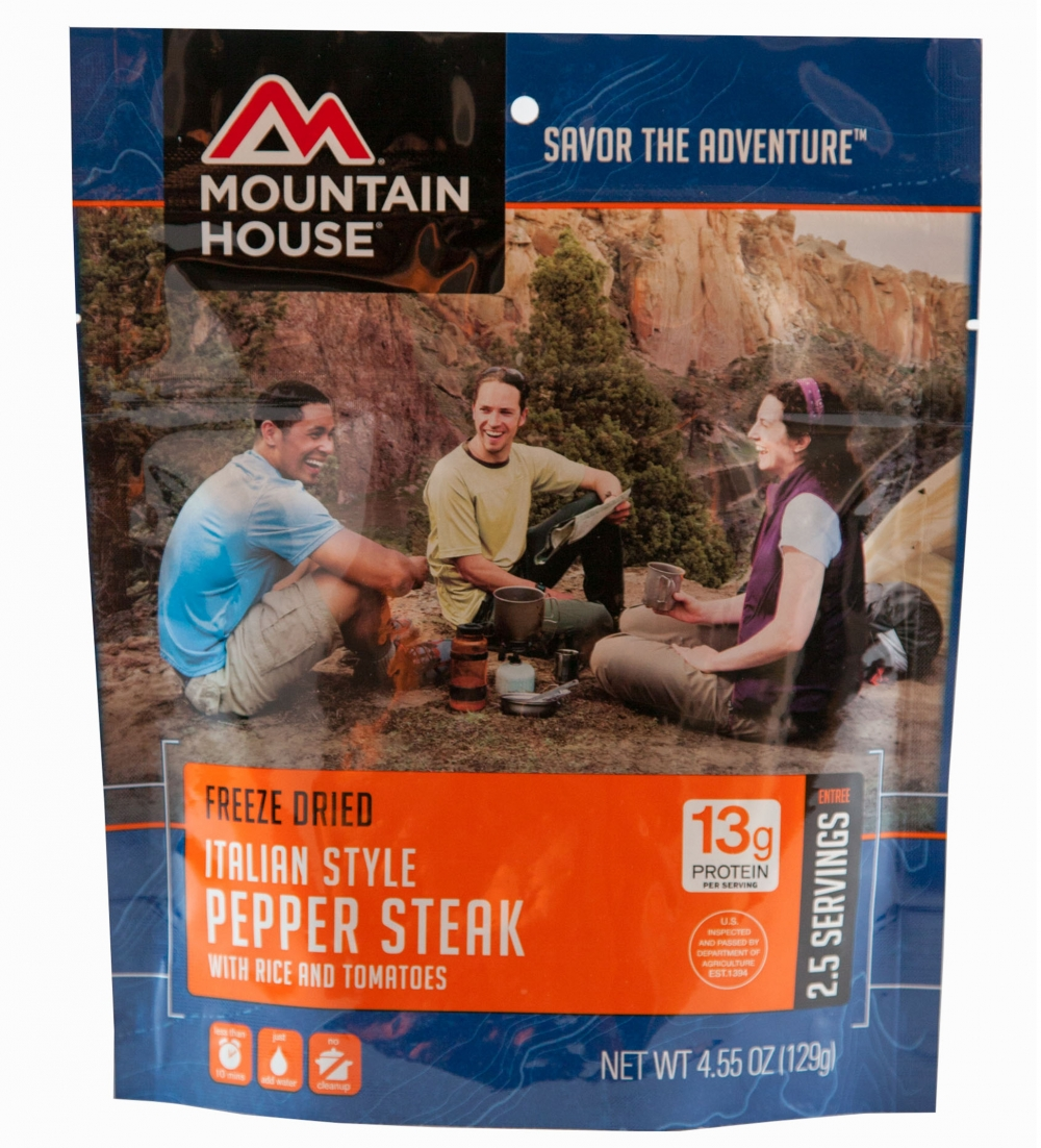 Mountain House (6 Pack) Italian Style Pepper Steak Main Entree Pouch by Mountain House