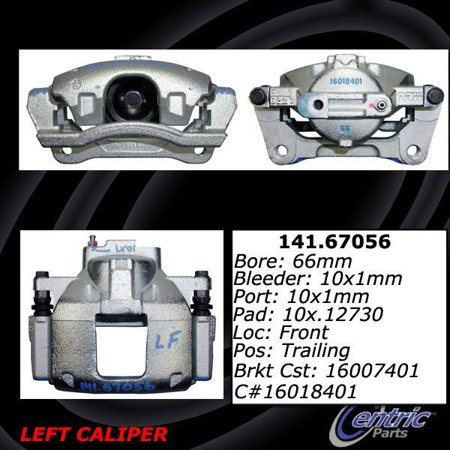 Brake Caliper Package - OE Replacement for 2008-2016 Dodge Grand Caravan Front Right Disc Brake Caliper (30th Anniversary Edition / American Value Package / C/V / Canada Value Package / Crew)