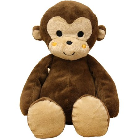 Lambs & Ivy Bedtime Originals Curly Tails Plush Monkey - Big Stuffed Monkey