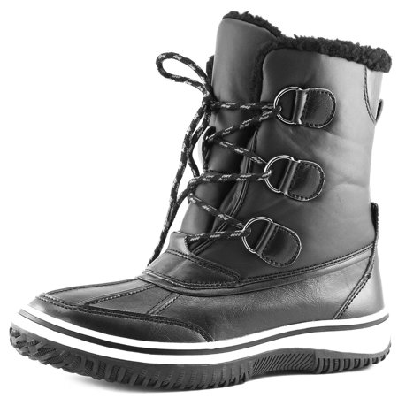 Women's Ankle High Mid Calf Artic Warm Fur Water Resistant Eskimo Snow Boots