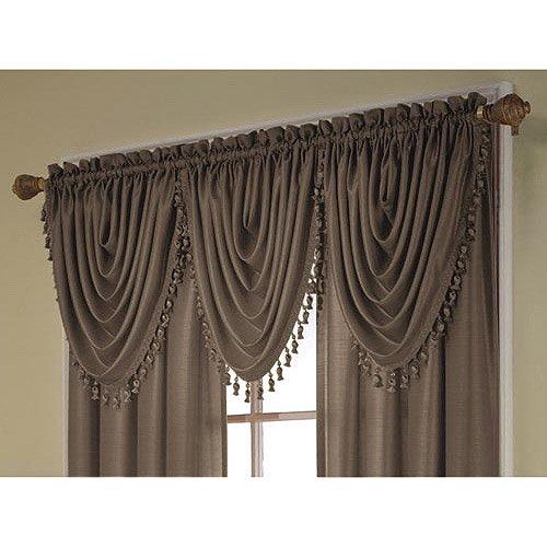 Treasure Faux Silk Window Curtain Valance, 36x26 - Walmart.com