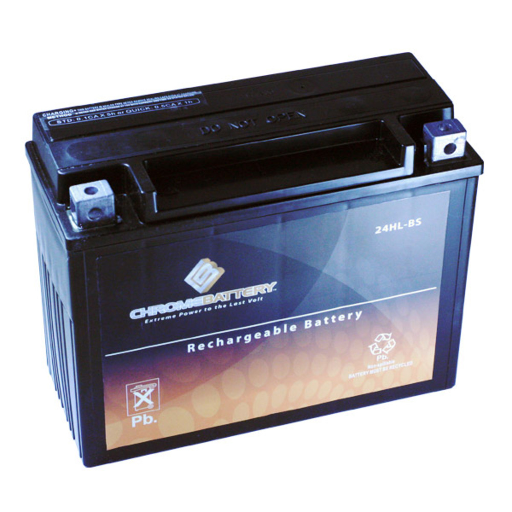 Chrome Battery M00030-10000 YTX24HL-BS High Performance Maintenance Free Sealed AGM Motorcycle Batte