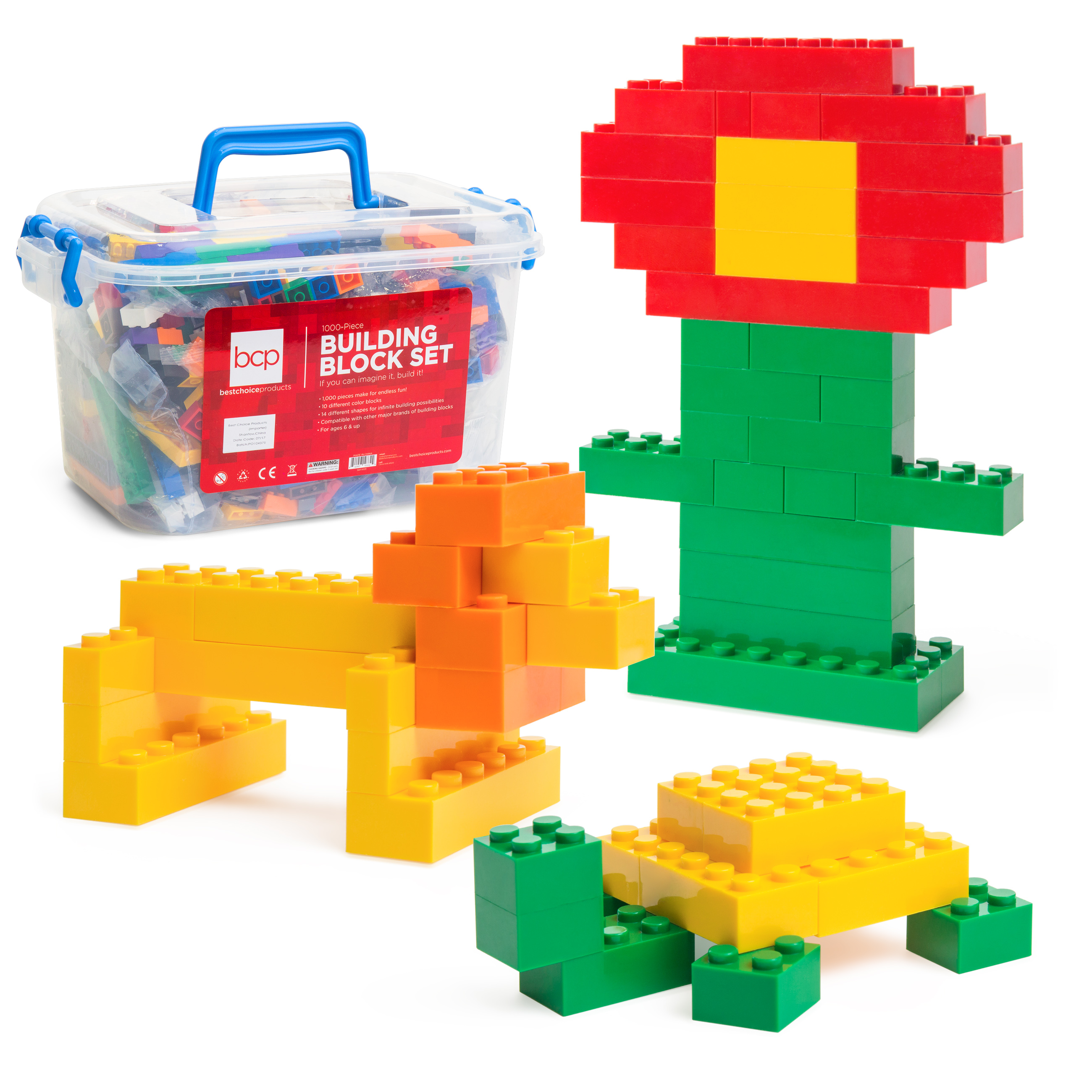 Best Choice Products Deluxe 1000 Piece Building Brick Blocks Set w