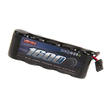 Venom 6v 1600mAh 5-Cell Flat Receiver NiMH Battery, Battery Type: Nickel Metal Hydride (NiMH) By Venom (Nickel Metal Hydride Nimh Radio)