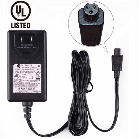 Universal Hoverboard Charger - for 36V - 42V Self Balancing Scooter, UL Listed, Mini 3-Prong Connector, Max Output 42V