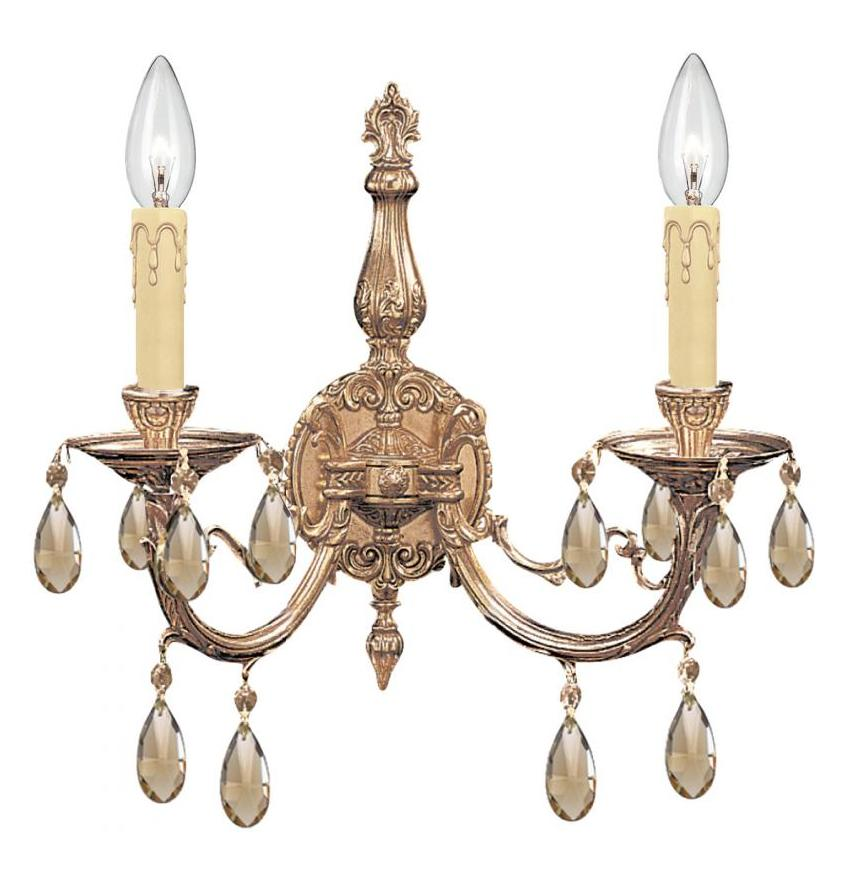 Crystorama 492-OB-GTS Two Light Sconces