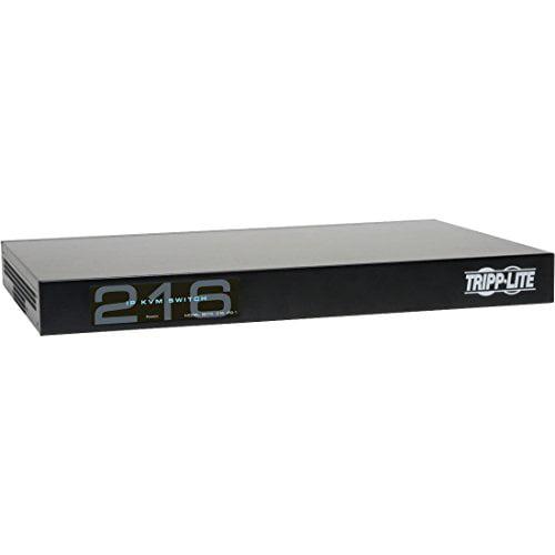 TRIPP LITE 16-Port Cat5 KVM 1 Local 2 Remote User 1URM Over IP Switch (B072-016-IP2) by Tripp Lite